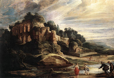 Landscape with the Ruins of Mount Palatine in Rome Peter Paul Rubens