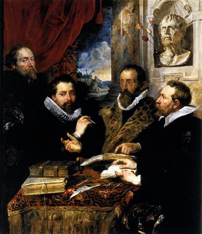 Self Portrait with Brother Philipp Justus Lipsius and another Scholar Peter Paul Rubens
