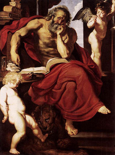 St Jerome in his Hermitage Peter Paul Rubens