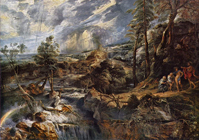 Stormy Landscape with Philemon and Baucis Peter Paul Rubens