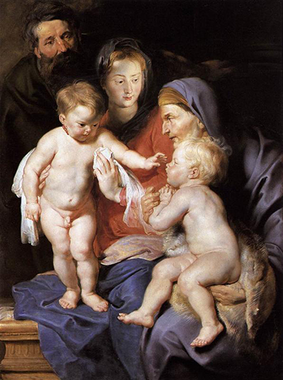 The Holy Family with St Elizabeth and the Infant St John the Baptist Peter Paul Rubens
