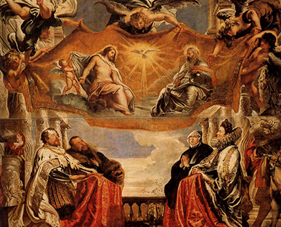 The Trinity Adored by the Duke of Mantua and his Family Peter Paul Rubens